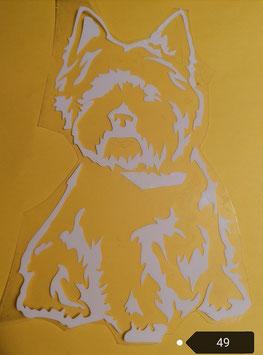 "Bügelbild  Nr. 49 "" West Highland Terrier """