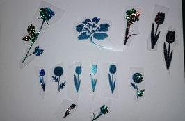 """Bügelbilder Set """"Blumen"""""""