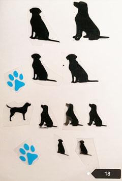 """Bügelbilder Set Nr. 18 """"Labrador """""""