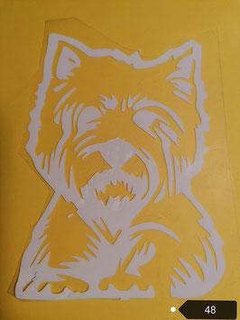 "Bügelbild Nr. 48"" West Highland Terrier"""