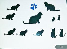 "Bügelbilder Set   Nr.  12 ""Katze """