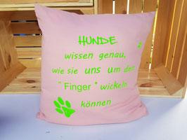 "Kissen ""Um den Finger wickeln"""