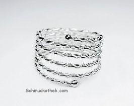 Charm Spiral Ring flash 925