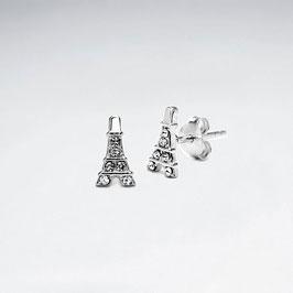 Ohrstecker Eiffelturm mit Zirkonia