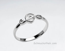 Musical Note Ring 925