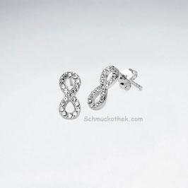 Ohrstecker Infinity Kristalle