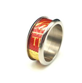 Titanring Schokofolie Lindt Rot/Gold