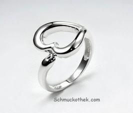 Klassik Herz Ring 925