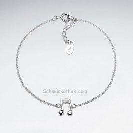 Silber Musiknote