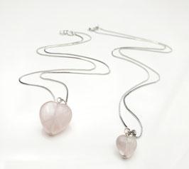 Halskette mit Herz Rosenquarz