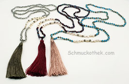 Colourful Tassel Halskette