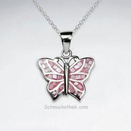 Rosa Schmetterling Anhänger
