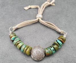 Türkis Armband Leder
