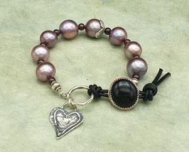 Perlenarmband Herz