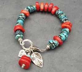 Rote Koralle Armband