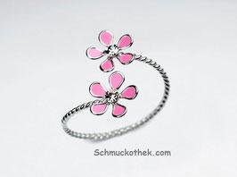 Ring Emaille Duett Blumen