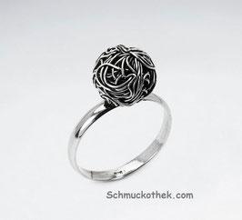 Silberball-Ring