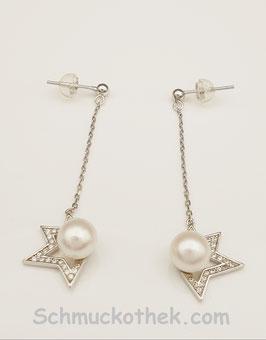 Sterne Perlenohrringe