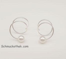 Ohrstecker Spiralis Perle