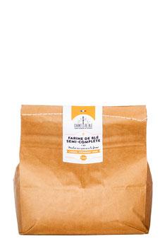 Farine Fraîche semi-complète de type 80 sac de 3 et 5 kilos
