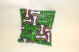 Green Printed Cushion Cover - Kissenbezug
