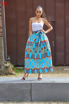 Blue  Printed Ankara Maxi skirt