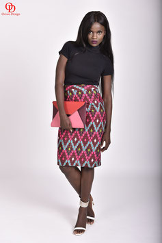 African print pencil skirt fully lined