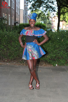 Dashiki Skirt & Off Shoulder Set