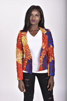 African Print Tailored Blazer