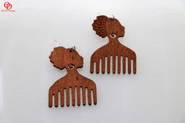 "Earrings ""comb"""