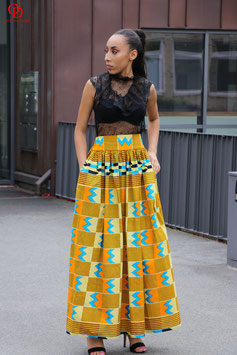 Kente Print Maxi Skirt