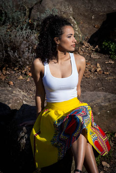 Midi Length  Dashiki Skirt