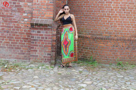 Green Dashiki Maxi skirt