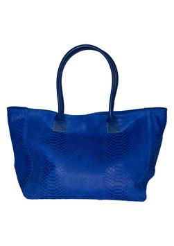 "GENUINE LEATHER Tasche Blau  ""Reptil"""