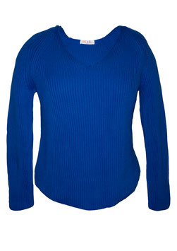 ME & LOU Pullover Blau