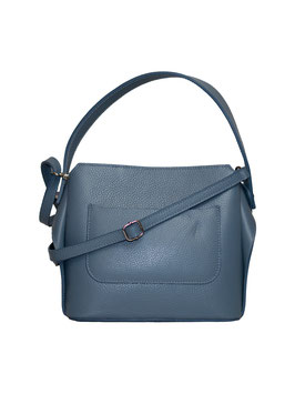 Genuine Leather Tasche Taubenblau