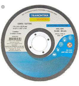 """42592/004 DISCO FINO CORTE ACERO INOX 4 1/2"""" TRAMONTINA"""