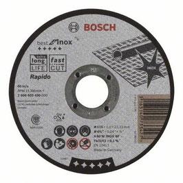 "DISCO CORTE BEST INOX  4-1/2""  X25 PZAS BOSCH"