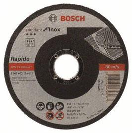 "DISCO CORTE STANDARD INOX 4-1/2"" X 25 PZAS BOSCH"