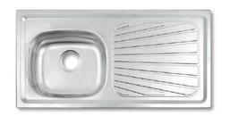 93943/505 LAVADERO BETA PLUS 40 FX - EX  01 POZA 100X50CM  TRAMONTINA