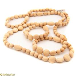"""Perlenkette Zirbe """"Claudia"""" 152 cm"""