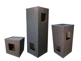 3er Kratzturm Set Pure Edge Small+Medium+Large