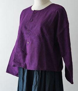 ヂェン先生のノーカラージャケット 紫