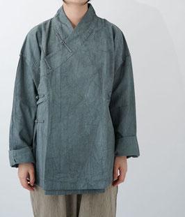 ヂェン先生のかさねチャイナ厚地 灰 密織