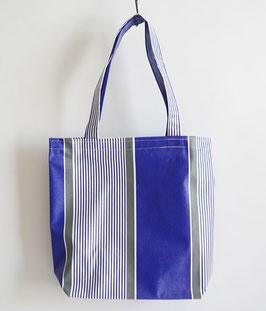 台東帆布行のビニルバッグ Lサイズ 青