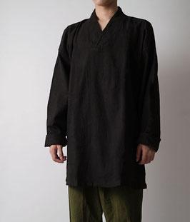 ヂェン先生の日常着 プルオーバー薄地 黒茶 Lサイズ