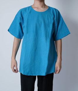 ヂェン先生の半袖Tシャツロング 明青