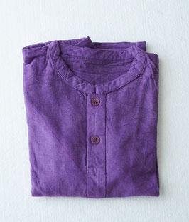 キッズヘンリーシャツ長袖厚地 薄紫 Mサイズ