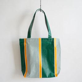 台東帆布行のビニルバッグ Mサイズ 緑