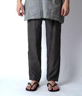 ヂェン先生の日常着 シンプルパンツ厚手 薄茶 Lサイズ(W64)